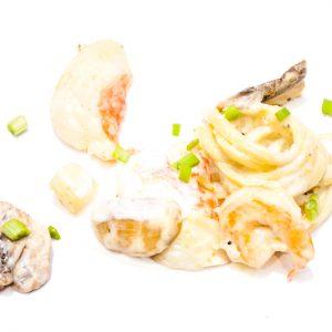 Plats cuisinés - À plats ventes - linguinis aux fruits de mer